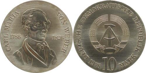 Lieferumfang:DDR : 10 Mark Carl Maria von Weber  1976 Stgl.