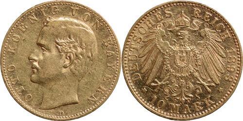 Lieferumfang:Deutschland : 10 Mark Otto  1893 ss/vz.