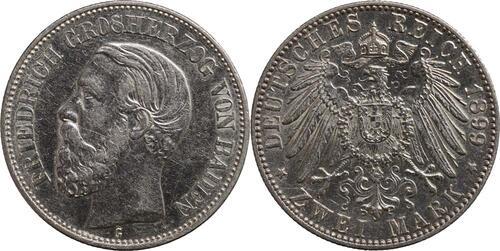 Lieferumfang:Deutschland : 2 Mark Friedrich I.  1899 ss/vz.