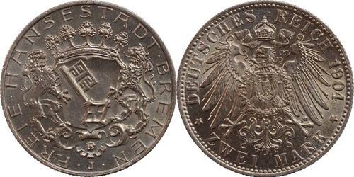 Lieferumfang:Deutschland : 2 Mark  patina 1904 Stgl.