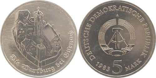 Lieferumfang:DDR : 5 Mark Wartburg  1983 Stgl.