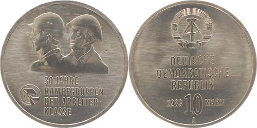 Lieferumfang:DDR : 10 Mark Kampfgruppen  1983 vz.