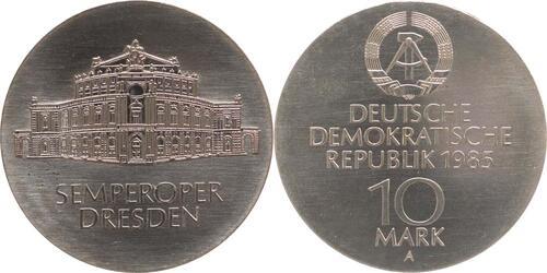 Lieferumfang:DDR : 10 Mark Semper - Oper Dresden  1985 Stgl.