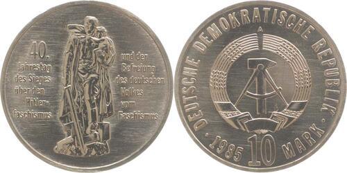 Lieferumfang:DDR : 10 Mark 40. Jahrestag der Befreiung  1985 Stgl.
