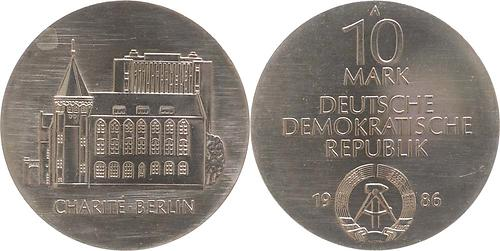 Lieferumfang:DDR : 10 Mark 275 Jahre Charité Berlin  1986 Stgl.