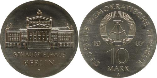 Lieferumfang:DDR : 10 Mark Schauspielhaus Berlin  1987 Stgl.