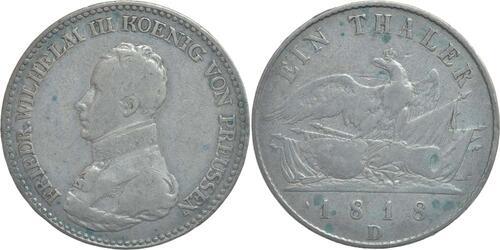 Lieferumfang:Deutschland : 1 Taler Friedrich Wilhelm III.  1818 s/ss.