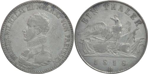 Lieferumfang:Deutschland : 1 Taler Friedrich Wilhelm III. patina 1818 ss.