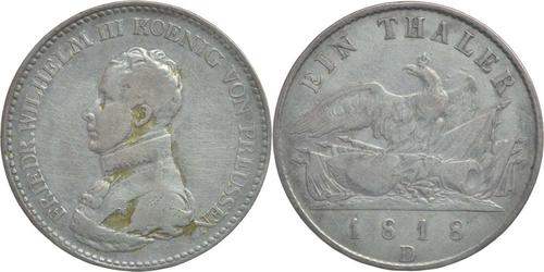 Lieferumfang:Deutschland : 1 Taler Friedrich Wilhelm III. patina 1818 s/ss.