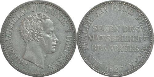 Lieferumfang:Deutschland : 1 Ausbeutetaler Friedrich Wilhlem III.  1827 ss+