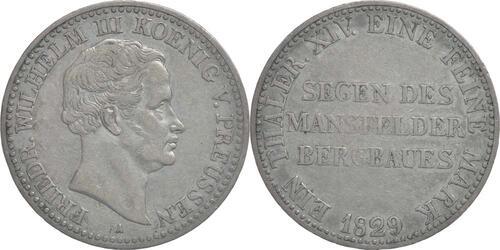 Lieferumfang:Deutschland : 1 Ausbeutetaler Friedrich Wilhelm III. patina 1829 ss.