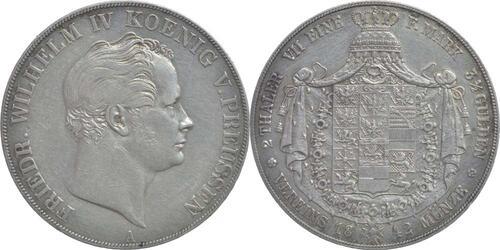 Lieferumfang:Deutschland : 1 Doppeltaler Friedrich Wilhelm IV.  1842 ss/vz.