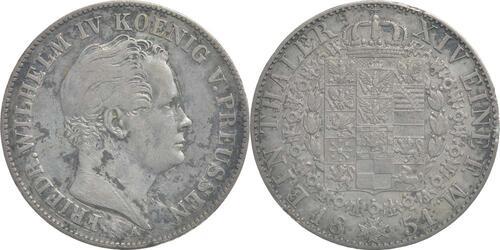 Lieferumfang:Deutschland : 1 Taler Friedrich Wilhelm IV. patina, Kratzer 1851 ss.