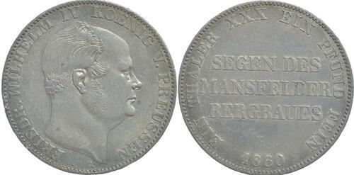 Lieferumfang:Deutschland : 1 Ausbeutetaler Friedrich Wilhem IV. winz. Rs. 1860 ss.