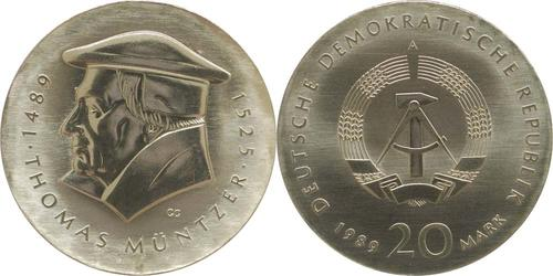 Lieferumfang:DDR : 20 Mark Thomas Müntzer  1989 Stgl.