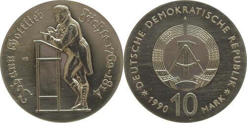 Lieferumfang:DDR : 10 Mark Johann Gottfried Fichte  1990 Stgl.
