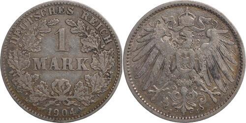 Lieferumfang:Deutschland : 1 Mark   1904 ss.