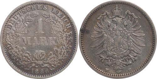 Lieferumfang:Deutschland : 1 Mark   1886 s/ss.