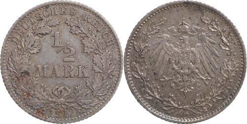 Lieferumfang:Deutschland : 1/2 Mark   1912 ss.