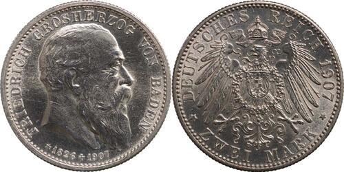 Lieferumfang:Deutschland : 2 Mark Friedrich I.  1907 Stgl.