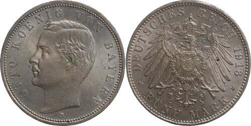 Lieferumfang:Deutschland : 5 Mark Otto  1913 Stgl.