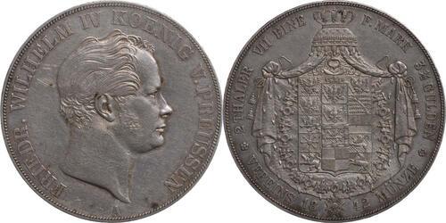 Lieferumfang:Deutschland : 1 Doppeltaler Friedrich Wilhelm IV.  1842 ss.