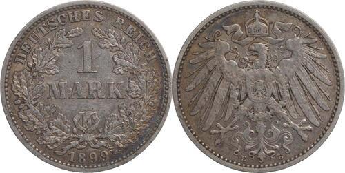 Lieferumfang:Deutschland : 1 Mark   1899 ss.