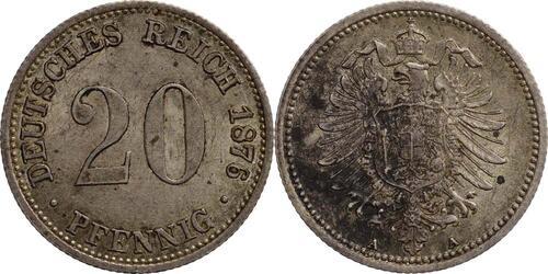 Lieferumfang:Deutschland : 20 Pfennig   1876 vz.