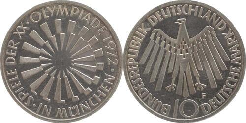 Lieferumfang:Deutschland : 10 DM Strahlenspirale München  1972 vz/Stgl.