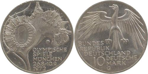 Lieferumfang:Deutschland : 10 DM Stadion  1972 vz/Stgl.