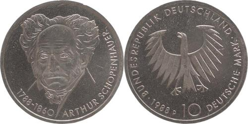 Lieferumfang:Deutschland : 10 DM Schopenhauer  1988 vz/Stgl.