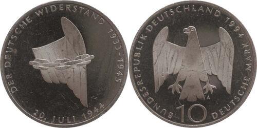 Lieferumfang:Deutschland : 10 DM Widerstand  1994 vz/Stgl.