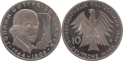 Lieferumfang:Deutschland : 10 DM Herder  1994 vz/Stgl.