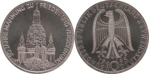 Lieferumfang:Deutschland : 10 DM Frauenkirche  1995 vz/Stgl.