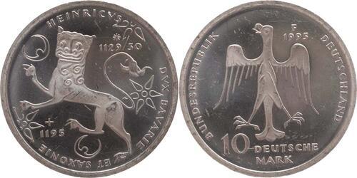 Lieferumfang:Deutschland : 10 DM Heinrich der Löwe  1995 vz/Stgl.
