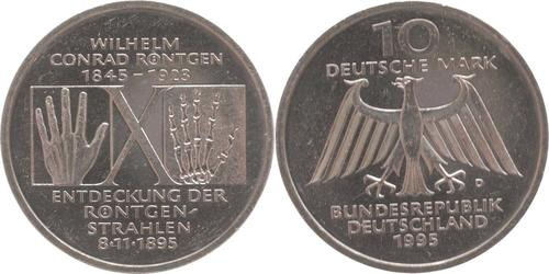 Lieferumfang:Deutschland : 10 DM Röntgen  1995 vz/Stgl.