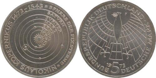 Lieferumfang:Deutschland : 5 DM Kopernikus  1973 vz/Stgl.