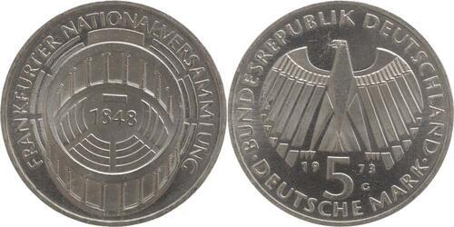 Lieferumfang:Deutschland : 5 DM Paulskirche  1973 vz/Stgl.