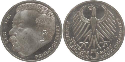 Lieferumfang:Deutschland : 5 DM Ebert  1975 vz/Stgl.