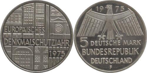 Lieferumfang:Deutschland : 5 DM Denkmalschutz  1975 vz/Stgl.