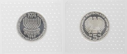 Lieferumfang:Deutschland : 5 DM Grundgesetz  1974 PP