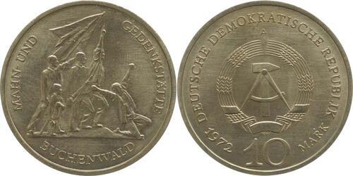 Lieferumfang:DDR : 10 Mark Buchenwald  1972 vz.