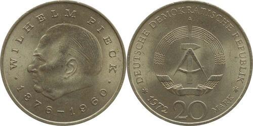 Lieferumfang:DDR : 20 Mark Wilhelm Pieck  1972 vz.