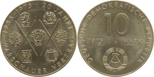 Lieferumfang:DDR : 10 Mark 20 Jahre Warschauer Pakt  1975 vz.
