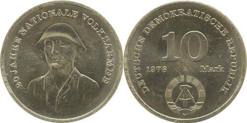Lieferumfang:DDR : 10 Mark 20 Jahre NVA  1976 vz/Stgl.