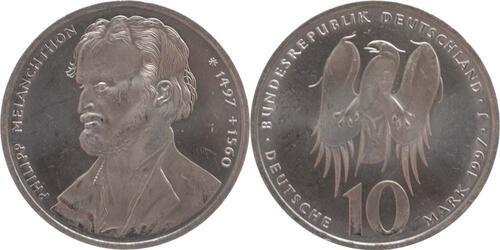 Lieferumfang:Deutschland : 10 DM Melanchthon  1997 vz/Stgl.