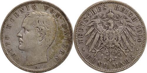 Lieferumfang:Deutschland : 5 Mark Otto  1904 ss.