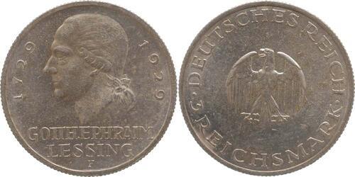 Lieferumfang:Deutschland : 3 Reichsmark Lessing  1929 vz.