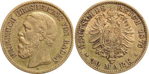 Lieferumfang:Deutschland : 10 Mark Friedrich  1875 ss.