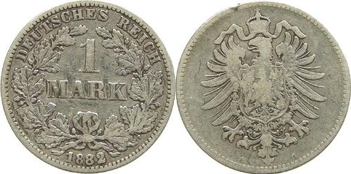 Lieferumfang:Deutschland : 1 Mark   1882 s/ss.
